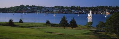 Golf Course at a Riverbank, Bluenose Golf Club, Lunenburg Harbor, Lunenburg, Nova Scotia, Canada