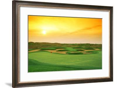 Golf Course at Dusk, Harborside International Golf Center, Chicago, Cook County, Illinois, USA--Framed Photographic Print