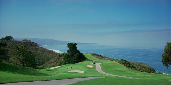 Golf Course at the Coast, Torrey Pines Golf Course, San Diego, California, USA--Photographic Print