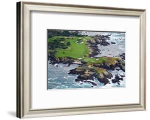 Golf Course on an Island, Pebble Beach Golf Links, Pebble Beach, Monterey County, California, USA