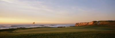 Golf Course on the Coast, Half Moon Bay, California, USA--Photographic Print