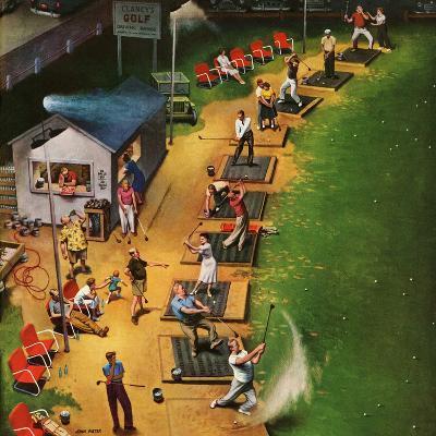"""Golf Driving Range"", July 26, 1952-John Falter-Premium Giclee Print"