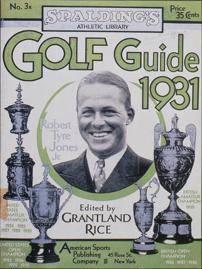 Golf Guide 1931, featuring Bobby Jones, American, 1931-Unknown-Giclee Print