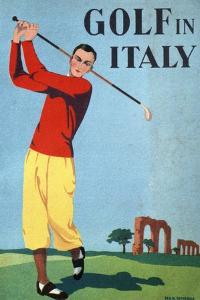 Golf in Italy, Book Cover Illustration by Max Minon