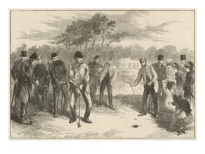Golf Match on Blackheath--Giclee Print