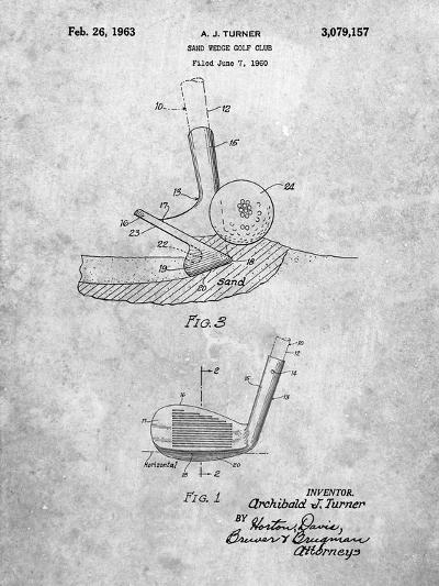 Golf Sand Wedge Patent-Cole Borders-Art Print