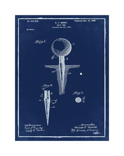 Golf Tee, 1899-Blue II-Bill Cannon-Giclee Print
