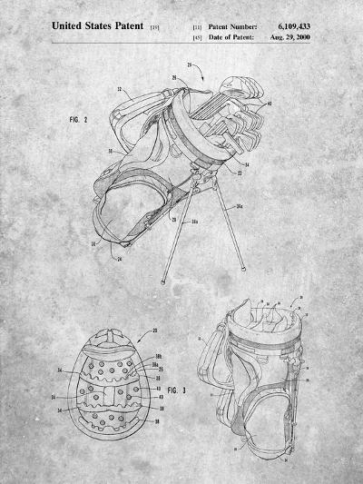 Golf Walking Bag Patent-Cole Borders-Art Print