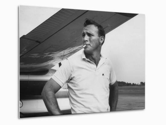 Golfer Arnold Palmer-John Dominis-Metal Print