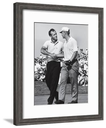 Golfer Jack Nicklaus and Arnold Palmer During National Open Tournament-John Dominis-Framed Premium Photographic Print