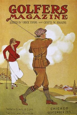 Golfers Magazine cover, September 1915-Unknown-Framed Giclee Print