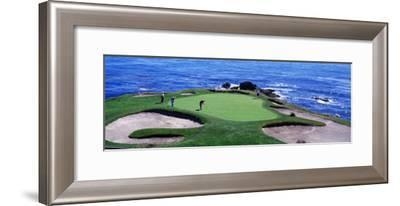 Golfers Pebble Beach, California, USA--Framed Photographic Print