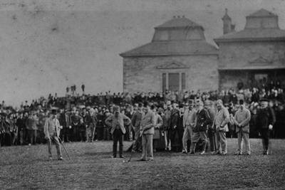 Golfers Putting at St. Andrews