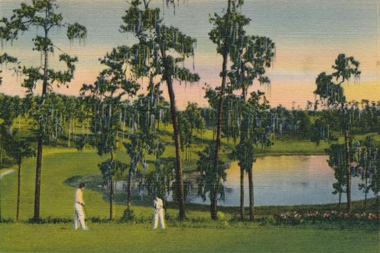 'Golfing, a year round sport in Florida', c1939-Unknown-Giclee Print