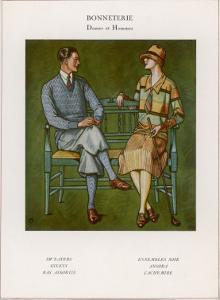 Golfing Couple: The Man Wears Plus-Fours with Matching Socks and Jumper