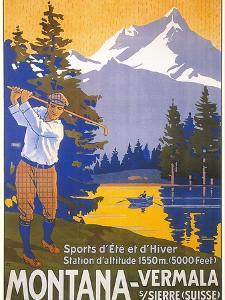 Golfing in Swiss Alps
