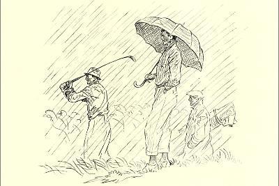 Golfing in the Rain--Art Print