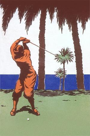 Golfing in the Tropics--Art Print