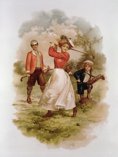 Golfing-Ellen Hattie Clapsaddle-Giclee Print