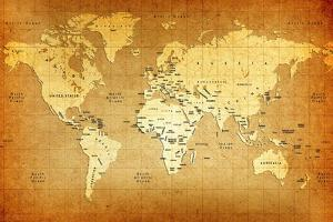 Detailed Old World Map by goliath