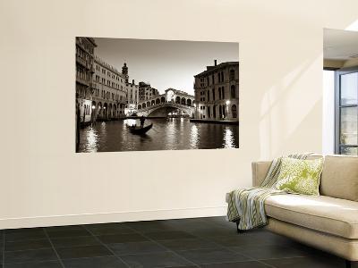 Gondola by the Rialto Bridge, Grand Canal, Venice, Italy-Alan Copson-Giant Art Print