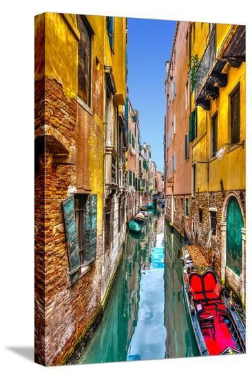 Gondola Canal Venice Italy--Stretched Canvas Print