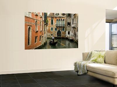 Gondola on Canal in San Marco District-Richard Cummins-Wall Mural