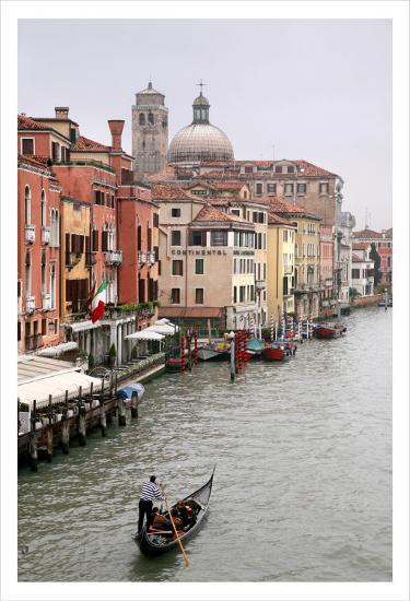 Gondola Ride, Grand Canal, Venice-Igor Maloratsky-Art Print