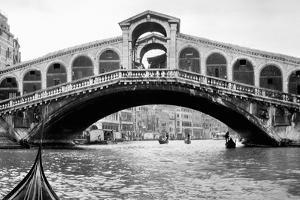 Gondola View of the Rialto Bridge in Venice, Italy, Ca. 1912
