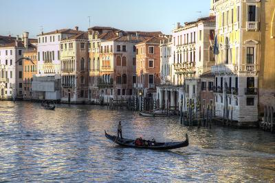 Gondolas Along the Grand Canal, Venice, Italy-Darrell Gulin-Photographic Print