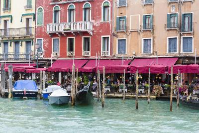 Gondolas and Restaurants at Grand Canal. Venice. Italy-Tom Norring-Photographic Print