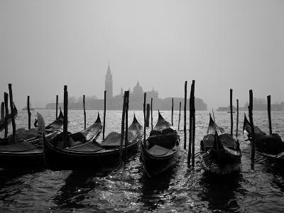 Gondolas and the Church of San Giorgio Maggiore, Venice, Veneto, Italy-Roy Rainford-Photographic Print