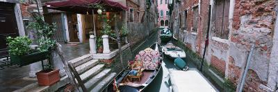 Gondolas in a Canal, Grand Canal, Venice, Italy--Photographic Print