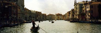 Gondolas in the Canal, Grand Canal, Venice, Veneto, Italy--Photographic Print