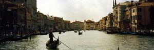 Gondolas in the Canal, Grand Canal, Venice, Veneto, Italy
