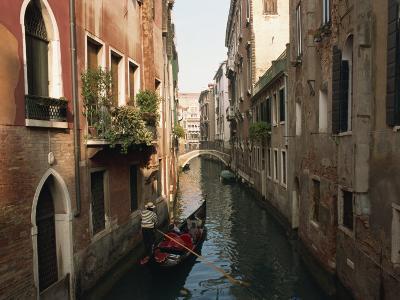 Gondolas on a Canal Near Piazza San Maria Formosa. Venice, Veneto, Italy, Europe-Lee Frost-Photographic Print