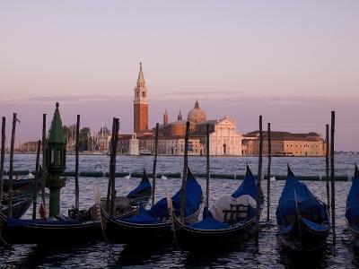 Gondolas on Canal, Church of St. Giorgio Maggiore in Background; Grand Canal, Venice, Italy-Design Pics Inc-Photographic Print