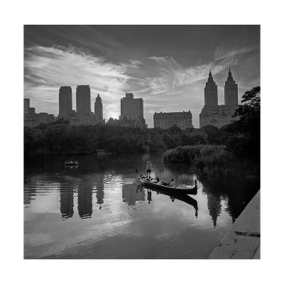 Gondolier Central Park at Dusk-Henri Silberman-Photographic Print