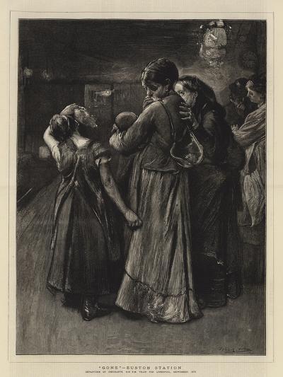 Gone, Euston Station-Frank Holl-Giclee Print