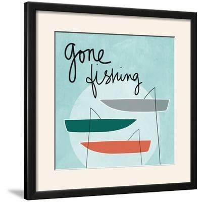 Gone Fishing-Linda Woods-Framed Photographic Print