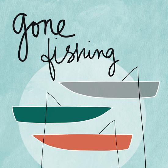 Gone Fishing-Linda Woods-Premium Giclee Print