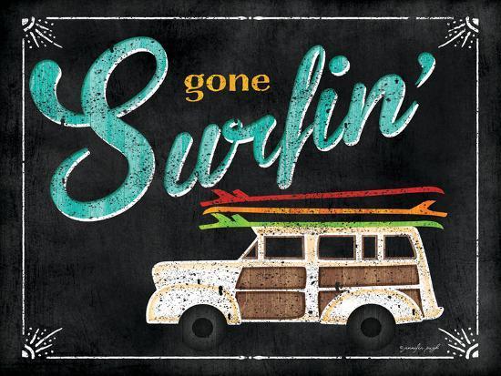 Gone Surfin-Jennifer Pugh-Art Print