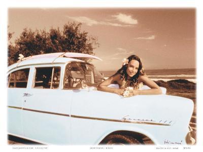 Gone Surfing, Maui, Hawaii-Himani-Art Print