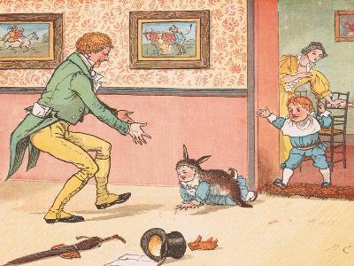 Gone to Fetch a Rabbit Skin-Randolph Caldecott-Giclee Print