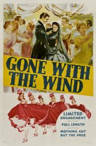 Gone with the Wind, Clark Gable, Vivien Leigh, 1939