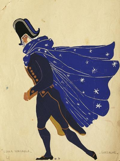 Gonzalve, Costume Sketch for the Spanish Hour, by Maurice Ravel--Giclee Print