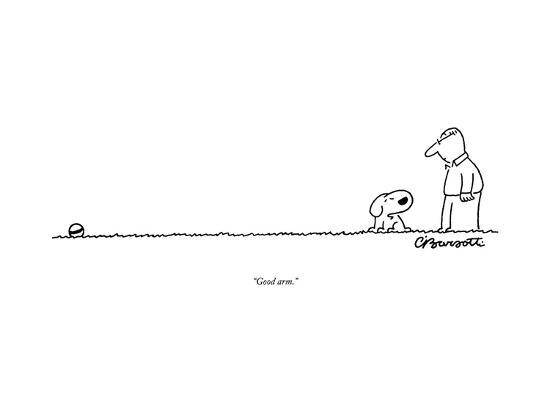 """Good arm."" - New Yorker Cartoon--Premium Giclee Print"