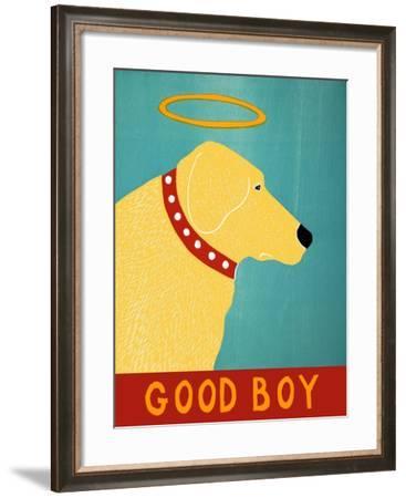 Good Boy Yellow-Stephen Huneck-Framed Giclee Print