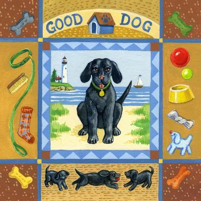 Good Dog Black Lab-Geraldine Aikman-Giclee Print