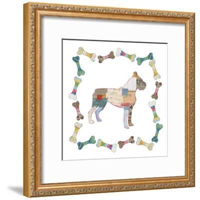 Good Dog I Sq with Border-Courtney Prahl-Framed Art Print